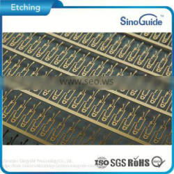 Custmerized Lead Frame Steel Etched Gold Plating Stainless Steel Etching