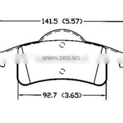 D791 5011970AA for JEEP auto parts brake pad of rear