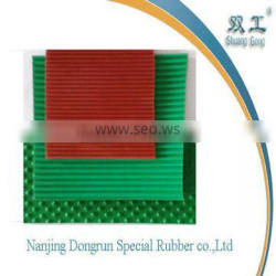 colour ribbed and round dot rubber sheet