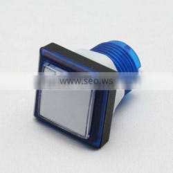 square 33mm blue plastic arcade game machine push button switch electric pushbutton switch with LED light