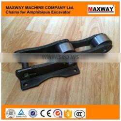 40Cr Steel Wearable Amphibious Excavator Chain , MAXWAY Machine Company