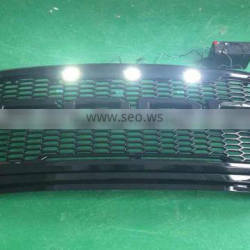 1 Pcs ABS Chrome Grill Cover Black With Red Or White Light Used For F150 (F-150) 2015 Accessories