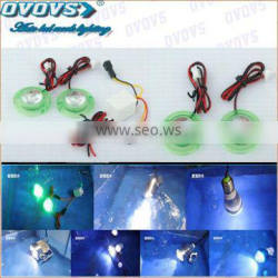12v flash led motorcycle light with green ring for red,green,blue,pink color