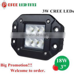 Hot Car Auto Parts 3inch Cube Light, Offroad Tractor 18W Cube Light