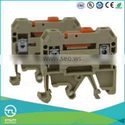 UTL Best Products Din Rail Industrial Distribution Switch Type Terminal Block 4mm 250V 10A