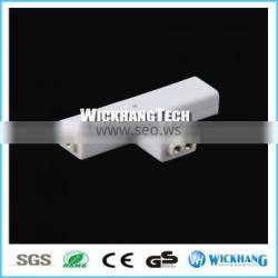 2pin T-shaped Solderless Clip-on Coupler Connector for LED Strip Light mono color