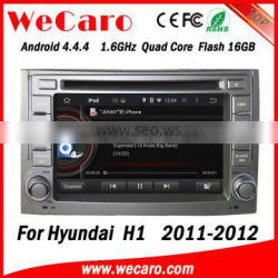 Wecaro WC-HH6224Android 4.4.4 car dvd player quad core car navigation system for hyundai h1 stereo tv tuner 2011 2012