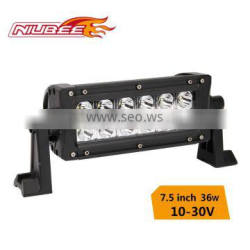"36W 7.5"" 6000k aluminum profile for lightstorm offroad driving lamp led light bar"