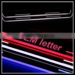 for BMW F22 2series 2015 door sill plate light accessory CE-certificate waterproof LED moving door scuff light