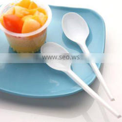 plastic disposable spoon and fork for dinner