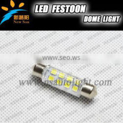 44mm interior car bulbs pure white 12V C5W auto led festoon lights car top light / reading light/side light