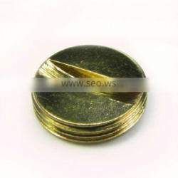 Customized CNC metal precision part Brass plate brass tube brass nuts brass rods with gold-plated