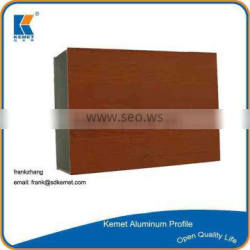 hot sell 6063 t5 wood grain suface treatment aluminum window frame