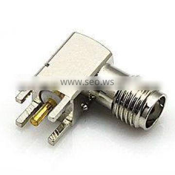 SMA female right angle solder connector for pcb