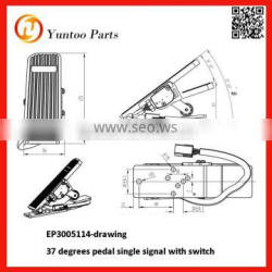37 degrees pedal single signal with switch Floor Mounted APS Accelerator Pedal Sensor