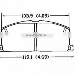 D242 04491-12361 04491-12372 for Toyota hiace brake pads