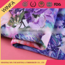 Made in china Competitive price T/R POR Digital print fabric