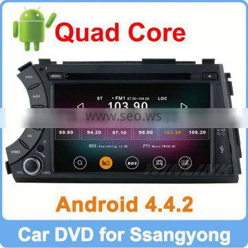 Ownice Quad Core Cortex A9 Pure Android 4.4.2 for Kyron Actyon 2006-2012 dvd radio Support TPMS OBD