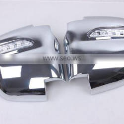 2 Pcs Side Door Mirror Cover With LED ABS Chrome Used For Starex 2004 Accessories