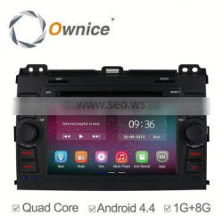 Ownice Quad core RK3188 Android 4.4 up to android 5.1 Car GPS navi for TOYOTA PRADO 2002-2009 with BT