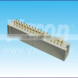 Dongguan ISO certificate 2.54mm pitch two rows 180 degree box header connector