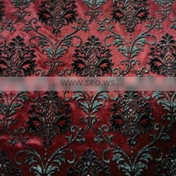 new product 100% polyester flock printing fabric with hot stamping for upholstery
