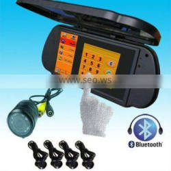7 inch GPS Navigation Car Camera System Rearview Mirror Monitor