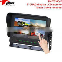 TM-7016Q-T 7 inch TOUCHSCREEN LCD Car monitor with QUAD display