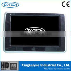 Vehicle touch headrest monitor for rear seat entertainment system