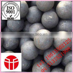 Jinan entered in the production of high quality more types of 75 mm forged steel ball used in steel mill grinding steel slag