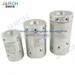 JARCH Max Speed 2000RPM Rotary Union Pneumatic , Aluminum Rotary joint 6 Passage Pneumatic slip ring