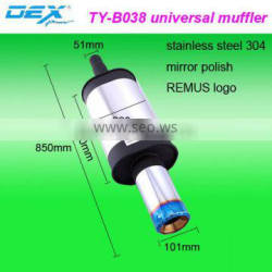 racing spare part exhaust system universal muffler performance