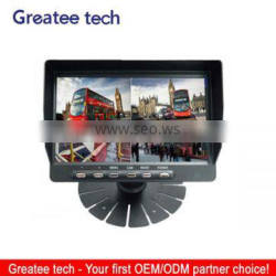 factory best 7inch Digital LCD Rear View Monitor Support 4-CH inputs with Quad Function