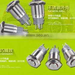 16mm 12v momentary stainless steel push button switch with Ring llluminated(LED)