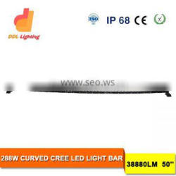 288W 50 inch led light bar for auto system curved led light bar offroad with wholesale