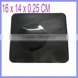 Black Magic Cell Phone Sticky Pad with Round LOGO Printing Silica Gel Anti Slip Pad Mat Car Dashboard for Cell Phone SG