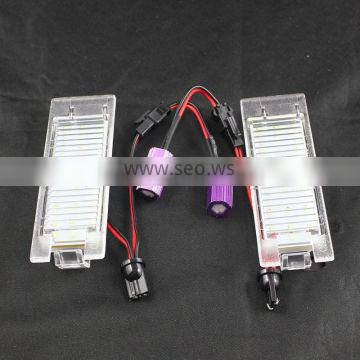 LED license plate light lamp for Hyundai Ix35 canbus LED license number plate lights for Opel Zafira B Astra H Corsa D Insignia