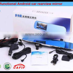 5 inchs Android car rearview mirror camera dvr