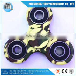 2017 new type Graffiti plastic ABS tri hand fidget spinner toy with ceramic bearing