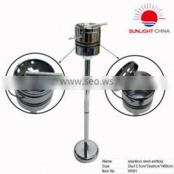 Hotselling stand stainless steel ashtray bin, commercial stainless steel waste bin