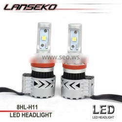 Prefessional auto parts 6000lm car led headlight bulb h8 h9 h11 40w Double heat dissipation system