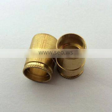 Customized high precision CNC turning brass smoking pipe/sleeve parts