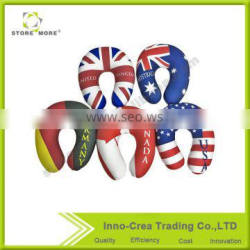 Store More High Quality National Flag Printed Memory Foam U Shape Neck Support Pillow