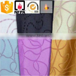 China suppliers 100% polyester luxury brilliant high quality mobile home curtain material fabric cloth