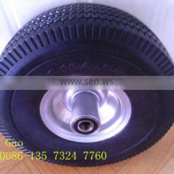 best quality of solid polyurethane tire 4.10/3.50-4 made in qingdao