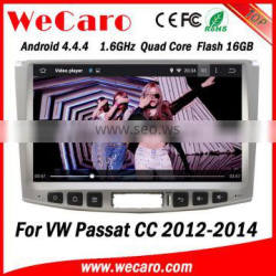 Wecaro WC-VU1011 Android 4.4.4 car multimedia system double din touch special car radio for vw passat cc WIFI 3G mirror link