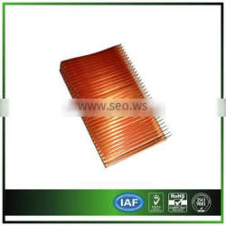 copper Skiving fin heat sink for medical devices nickel plating