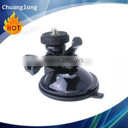 Sticky suction cup camera mount with 1/4'' camera head adapter