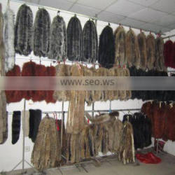 2016 100% real dyed fox fur trimming for garment