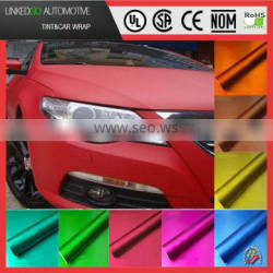most popular 1.52*20m chrome matt film with air bubble free stretchable